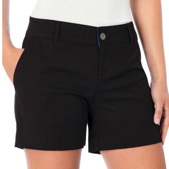 Isaac Mizrahi New York Tailored Chino Black Shorts